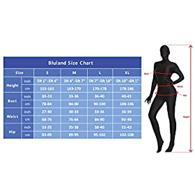 Bluland Spandex Full Body Suit Unisex Second Skin Zentai Suit