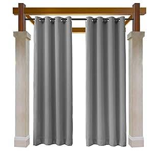 Macochico Outdoor Grommet Curtains Noise Reducing Heat