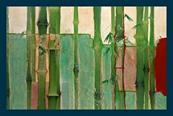 Bild Mit Rahmen Unda M.   Bambus 2   Digitaldruck   Holz Blau, 119