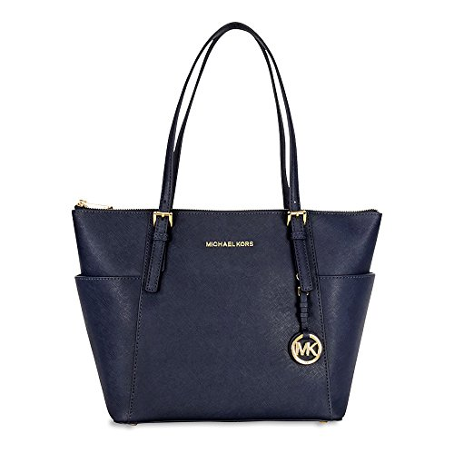 Michael Kors Jet Set Saffiano Leather Tote - Admiral by Generic