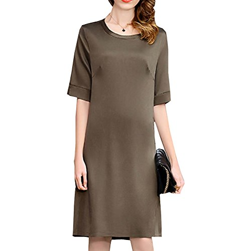 f279186dcae636 DISSA S9912 Damen Einfarbig Knee-Long Cocktail Übergröße Seide Kleid Kleider  Abendkleid na wyprzedaży