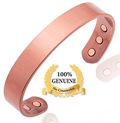 Earth Therapy - Pure Copper Magnetic Golf Bracelet for Recovery & Injury Relief