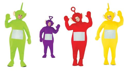 Teletubbie Adult 4 Pack Costume - One Size - Chest Size -