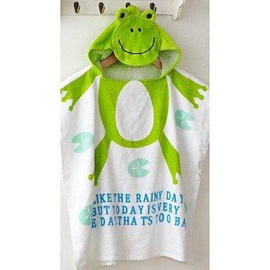 Green Frog Splash Wrap Baby Bath Robe Hooded Towel Amazon Co Uk