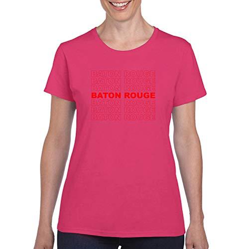 Red Box Logo Baton Rouge City Pride Womens Graphic T-Shirt, Fuschia, -
