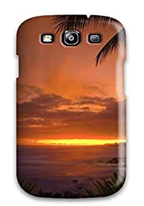 Hot 1405135K56651766 Tpu Case Cover Compatible For Galaxy S3/ Hot Case/ Sunset