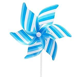 Generic 2acentos 6pétalos viento Spinner Color Azul