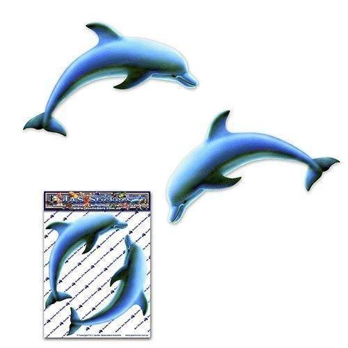 Dauphins bijoux sauvages pour animaux de mer autocollant pour caravanes pour camions-voitures - ST00057_SML - Autocollants JAS