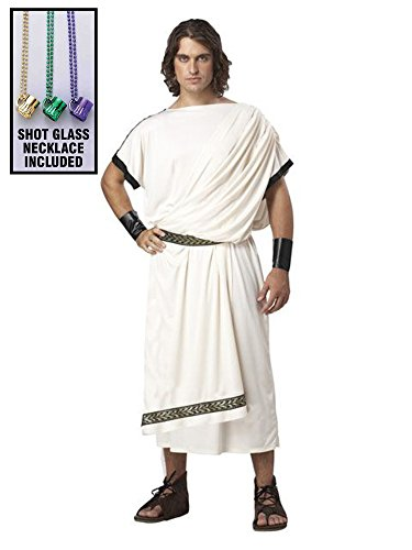 Deluxe Classic Toga (male) Costumes (CALIFORNIA COSTUME COLLEC Classic Toga for Men Deluxe Costume Party Kit)