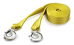 51005A Heavy Duty Tow Strap Sling w/ Hooks 10000 LB Capacity Polyester