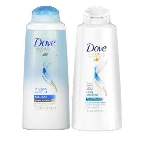 Dove Bundle: Dove Shampoo Oxygen Moisture, 20.4 Ounce And Dove Damage Therapy Daily Moisture Conditioner, 25.4 Ounce