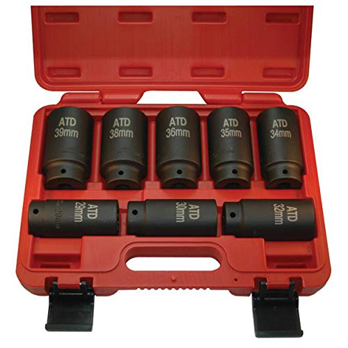 ATD Tools (8628) 12-Point 8-Piece Axle/Spindle Nut Socket Set ()