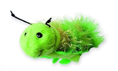 Fingerpuppe - Raupe grün - Wurm Schmetterling / Tier Handspielpuppe - Kasperlfigur - Finger Puppe Handpuppe - für Kinder & Erwachsene - Plüschtier Kinder-Land