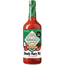 Glass Tabasco Bloody Mary Mix, Extra Spicy, 32 Ounce