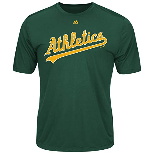 (Majestic Men's Cool Base MLB Evolution Shirt Oakland Athletics XL )