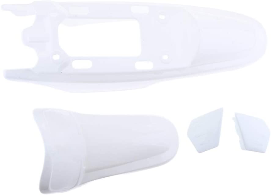 White Motorcycle Plastic Front /& Rear Fender Mudguard Cover Kit for Yamaha PW50 Peewee50
