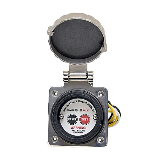 ELCI Sensing Module Housing, 30 Amp, 125V, std stainless steel square inlet style