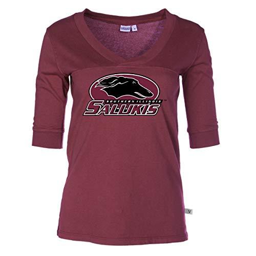 Official NCAA Southern Illinois Salukis - Women's 3/4 Sleeve Football Jersey ()