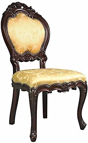 Design Toscano Lady Ambrose Shield Back Accent Chair, Single, Walnut