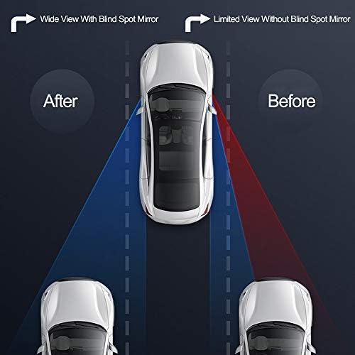 TRIXES 2 x Specchietti per Angolo Morto//Punto Cieco per Auto Furgoni Traino Grandangolo Regolabili Autoscuola Specchio Retrovisore Aggiuntivo