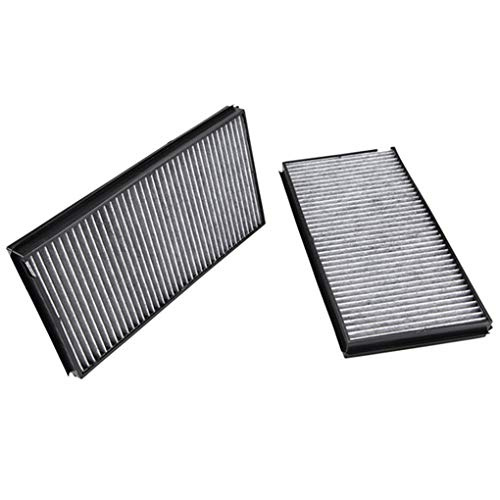 Boger 1 Pair Carbon Fiber Cabin Air Filter Auto Air Conditioning Grid Replacement for BMW 5 Series E60