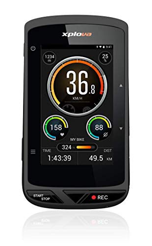 Xplova X5 Evo GPS Cycling Computer with Action Camera – Bike Computer with 3″ Touchscreen Color Display – Bike GPS Route Planning OSM Free Worldwide Map – Dash-cam Recording 120 Degree Wide-Angle Bike