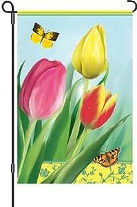 Premier 51474 Garden Brilliance Flag, Spring Tulips, 12 by 18-Inch