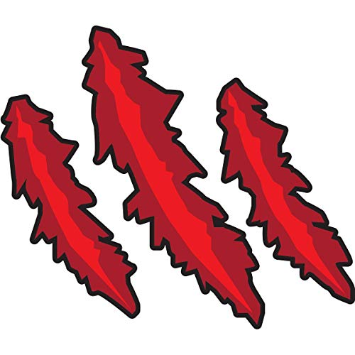 Red Claw Temporary Tattoos, 25 Pack Spirit Stickers
