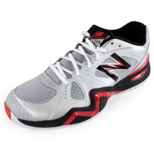 888098149074 - New Balance Men's MC1296 Stability Tennis Tennis Shoe,Silver/Red,10 D US carousel main 0