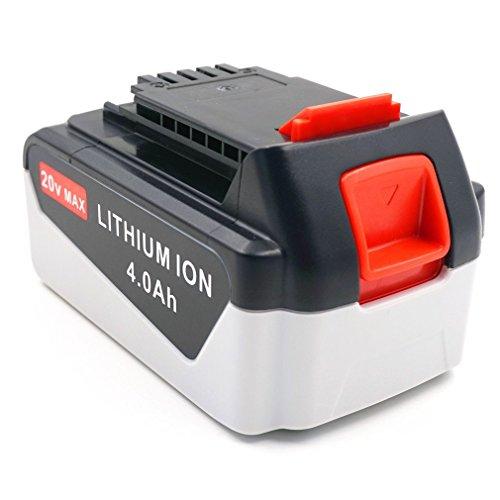 4.0Ah 20v Max Battery for Black & Decker LB2X4020 20v Lithium Battery LB2X4020-OPE LDX120C LDX120PK BDCJS20B LSTE523