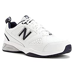 New Balance Men's Mx623v3 Casual Comfort Training Shoe, Whitenavy, 13 2e Us
