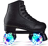 Beginner Adjustable Inline Skates for Adults, Club Recommendation Outdoor Four-Wheel Roller Skates, Classic Hi