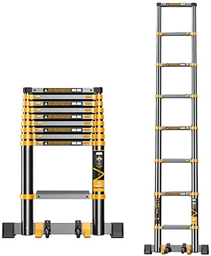 lqgpsx 11.5ft/15.5ft/19.5ft Extra Tall Telescoping Extension Ladder Aluminum Foldable Straight Telescopic Ladders For…