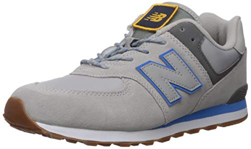 New Balance Boys 574v1 Lace-Up Sneaker, Raincloud/Lapis, 4.5 B W US Little Kid (4-8 Years)