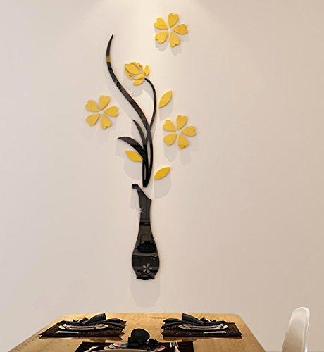 Cheap  3d Vase Wall Murals for Living Room Bedroom Sofa Backdrop Tv Wall..
