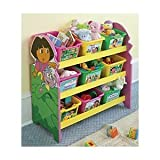 Nick Jr. Dora the Explorer 3-Tier 9 Bin Toy Organizer