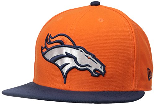 NFL Denver Broncos On Field 5950 Game Cap, Orange, 7 1/2