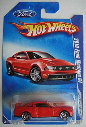 Hot Wheels '09 AUTO SHOW EDITION, RED 2010 FORD MUSTANG GT