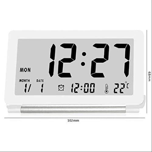 Alarm ClockTravel draagbare elektronische klok Bedside Mand Small Creative Desktop temperatuur elektronische klok Wekker