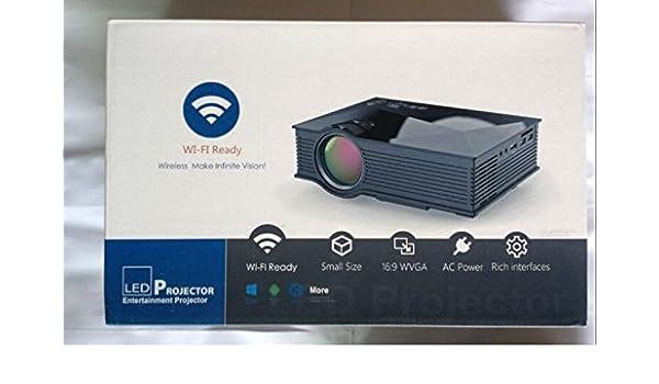 DLNA UC46 mini portátil WiFi proyector Full HD LED de cine en casa ...