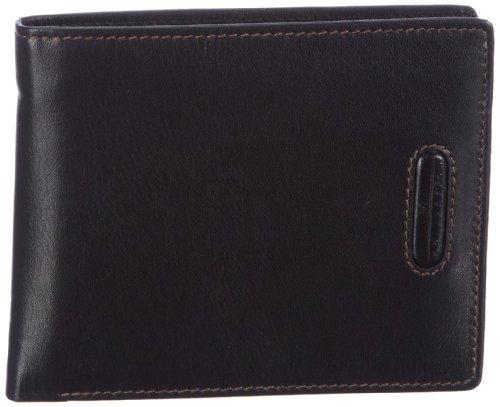 M Collection Merlin Portemonnaie (QF) 4900000295, Unisex-Erwachsene Geldbörsen 12x10x1 cm (B x H x T) Schwarz (Black 900)