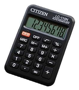 Citizen LC-110N Bolsillo Basic calculator Negro - Calculadora (bolsillo, Basic calculator, Negro, 87 x 58 x 12 mm)