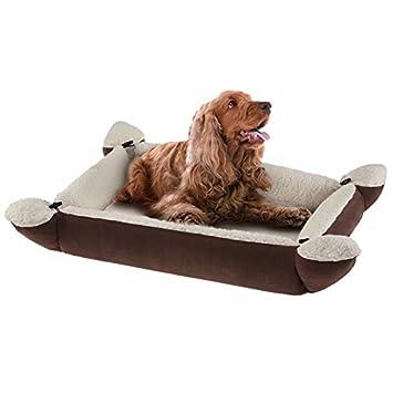 polifunzionale WANGADO Cama para perro formado por cubiertos Sillón convertible en cama con cordones, reversible y enrollado, ideal para el viaje.