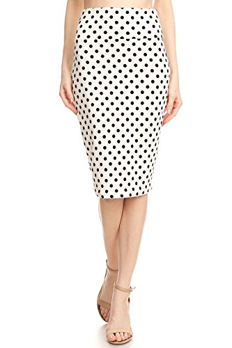 MissyMissy Womens Stretch Pencil Skirts Dot Pattern Casual Solid Shorts Q1021-2