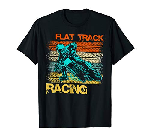 Vintage Flat Track Motorcycle Racing Speedway  T-Shirt
