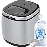 Chilla Portable Countertop Ice Maker - 50 lbs of Ice Per Day - Chewable, Delicious Bullet Ice - Reliable and Quiet - For Home or Office - Comes with 5 Reusable Ice Bags for Ice Storage