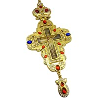 Pectoral Cross Multi Zircons Crystallized Elements Christian Priest Crucifix 20