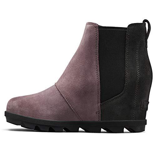 Sorel - Women's Joan of Arctic Wedge II Chelsea Boots, Suede, Purple Sage, 7.5 M US (Boot Wedges For Women)