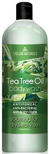 Antifungal Tea Tree Oil Body Wash - Antibacterial and Therapeutic - Tea Tree, Peppermint, Eucalyptus Oil - Helps with Athlete's Foot, Toenail Fungus, RingWorm, Body Itch, Acne, Body Odor - 16 ounces ()