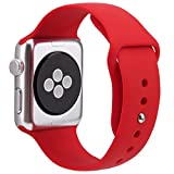For Apple Watch Band,Goodidus Soft Silicone Fitness Replacement Sport Band for Apple Watch L Size(Red 42MM)